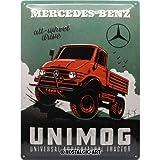 Nostalgic-Art Plaque vintage Mercedes-Benz – Unimog – Cadeau pour les...