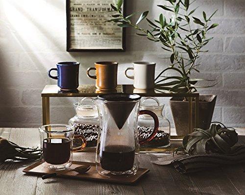 bonmacボンマックダブルウォールコーヒーカラフェセット700mlカラフェ:直径9.9×高さ17.5cm、フィルター:直径9.8×高さ7.9cm、ホルダー:直径9.5×高さ8cm
