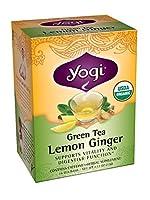 Yogi Teas Lemon Ginger Green Tea, 16 Count (Pack of 6) by Yogi Teas