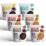 Catalina Crunch Keto Protein Cereal Single Serve Pouches (1.27oz/pouch) 6 Flavors Variety Pack: Keto Friendly, Low Carb, Zero Sugar, Plant Protein, High Fiber, Gluten & Grain Free