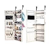 TimmyHouse Jewelry Wall Mirrored Cabinet Lockable Armoire Mirror Hang Organizer Storage Box
