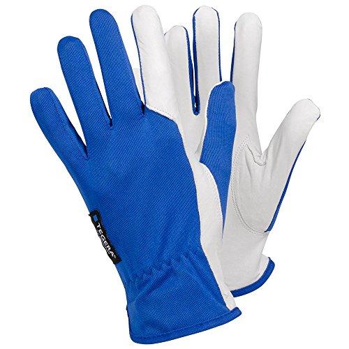 Ejendals Lederhandschuh Tegera 30, Größe 9, 1 Stück, blau/weiß, 30-9