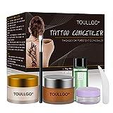 Makeup Concealer, Scar Concealer, Tattoo Concealer, Pro Concealer, Professional Waterproof Concealer Set to Cover Tattoo/Scar/Acne/Birthmarks/Vitiligo, 30g+30g