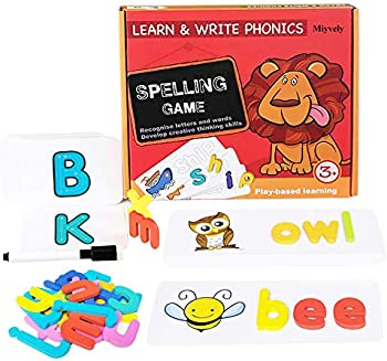 Miyvely Sesuval Matching Letter Game for Boys Girls 3 Years and up