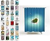 Sanilo Duschvorhang, viele schöne Duschvorhänge zur Auswahl, hochwertige Qualität, inkl. 12 Ringe, wasserdicht, Anti-Schimmel-Effekt (180 x 180 cm, Dream Island)