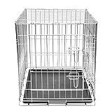 Festnight Cage en métal Pliable pour Chien 76 x 55 x 61 cm