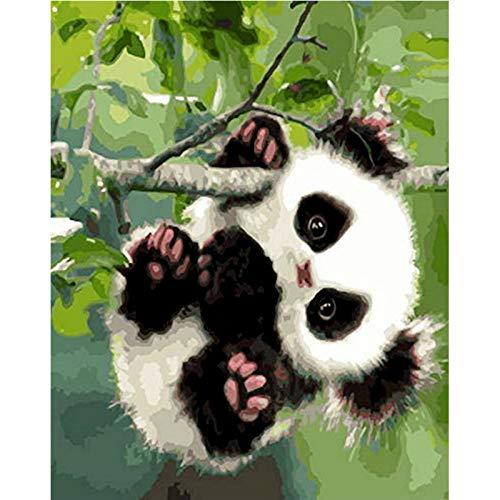 mlpnko Digitale Malerei DIY niedlichen verspielten Panda Baby Tier Leinwand Hochzeit Dekoration Kunst Bild 40X50cm Rahmenlos