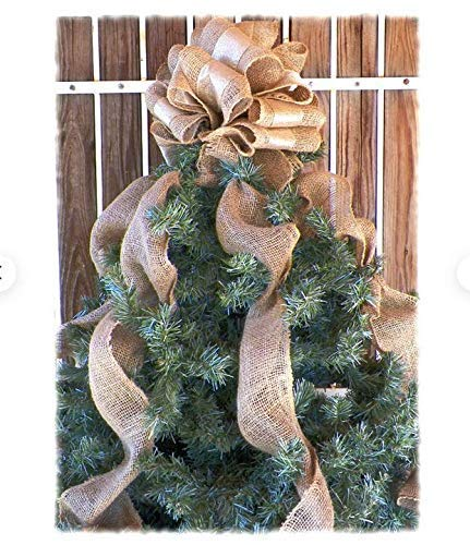 Burlap Tree Topper - Gold Tree Topper, Christmas Tree Topper, Burlap Topper Bow, Christmas Tree Bow