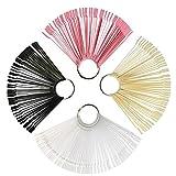 uñas display ZERHOK 200pcs para mostrador uña de color de expositor display de palos de práctica de uñas de esmaltes de cuatro tipos