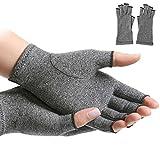 1 par de guantes de compresión para mujeres, para aliviar los síntomas de artritis, enfermedad de Raynaud, túnel carpiano, con manual escrito (idioma español no garantizado)