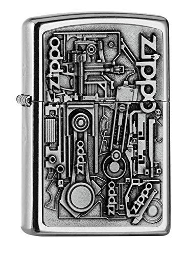 Zippo PL 207 Motor Parts Emblem 3D Feuerzeug, Messing, Design, 5,83,81,2