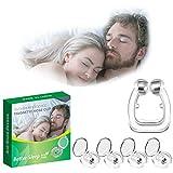 Dispositivos antirronquidos, pinza nasal magnética antirronquidos para detener los ronquidos, pinzas nasales magnéticas antirronquidos de silicona, cómodas ayudas para dormir para hombres y mujeres