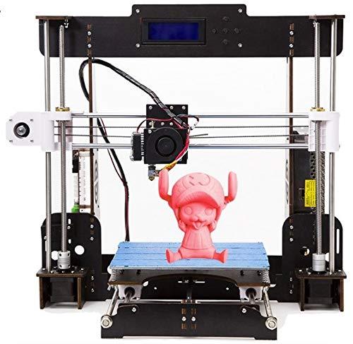 Stampanti 3D, kit stampante desktop 3D con schermo LCD CTC A8 W5 Pro DIY con telaio in legno antiurto antiurto, filamento stampante ABS/PLA da 1,75 mm gratuito