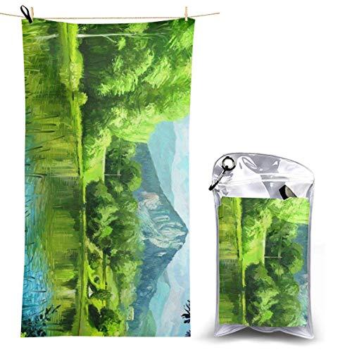 XCNGG Microfiber Beach Towel, Nature Quick Fast Dry Towel Blanket Sand Free Soft Absorbent Lightweight Bath Towels for Beach, Bath, Swim, Travel