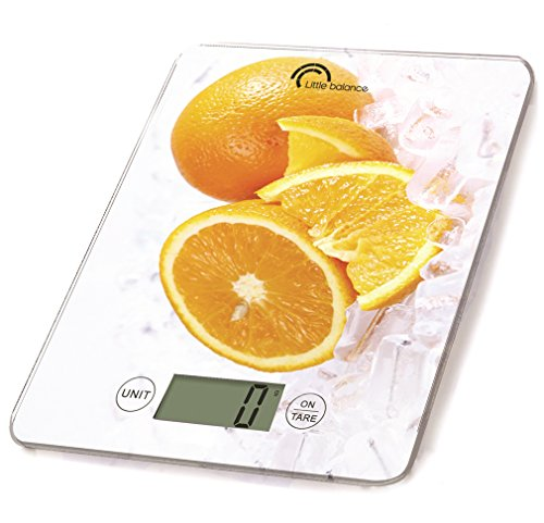 Little Balance 8090 Slim Balance culinaire, 5 kilograms, Déco Orange