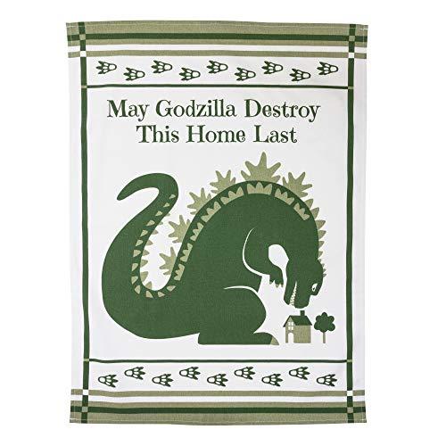 getDigital Geschirrtuch May Godzilla Destroy This Home Last - Saugstarkes Küchen-Tuch mit Godzilla Motiv - Geschirrhandtuch aus 100% Baumwolle