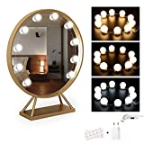 EEIEER Kit Lumiere LED Miroir 3 couleurs Hollywood Vanity Mirror Light 10 Ampoules...