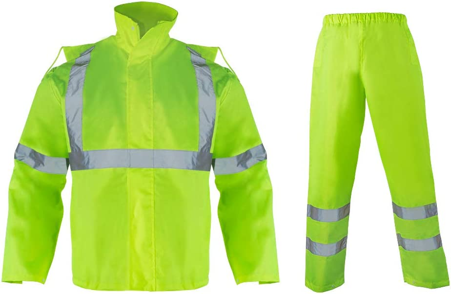 VENDACE Hi Vis Waterproof Rainsuit Jacket A surprise price is realized 2021new shipping free High for Pants Men and