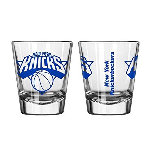 Offizielles Fan Shop Authentic NBA Logo 2oz Schnapsgläser 2er Pack Bundle. Ihre Basketball Team Stolz zu Hause, Ihre Bar Oder an der Heckklappe, New York Knicks