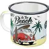 Nostalgic-Art 43218 - Taza esmaltada retro Volkswagen Bulli T1 - Beach - Idea de regalo para los fans de VW Bus - Taza de camping, 360 ml, diseño vintage