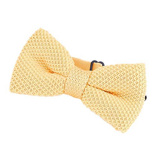 DonDon Nœud papillon homme en tricot lié et réglable 11 x 6 cm doré