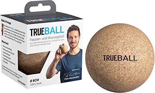 TRUEBALL by TRUETAPE® Faszien-Ball - nachhaltiger Massageball aus 100{ae255e189445a55748d76d48e53d5772ddc3f29259276bd3e4c953ca0c068f30} Kork zur gezielten Selbst-Massage | Mit Anleitungen für dein Faszien-Training | 8 cm Triggerball
