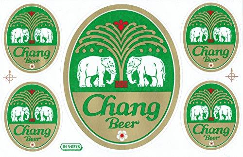 DD Chang Bier Beer Classic Sticker Sticker Folie 1 vel 270 mm x 180 mm weerbestendig
