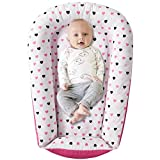 Baby Cosleeper for Bed - Reversible and Adjustable Baby nest, Newborn Lounger, Baby Bassinet - Soft Durable Cotton Blend Baby Lounger- Lightweight Portable Crib Perfect for Travel | Full of Love