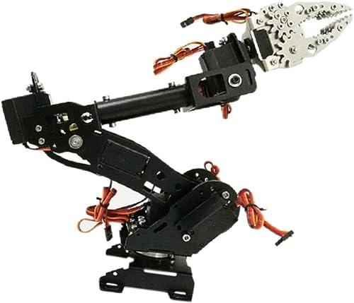 F Fityle SchwarzDIY Montiert 8-dof Mechanik MG-996R Servo Griff Roboterarm Für Robotik Learning Kit