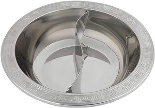 Fondue en acier inoxydable divisée très épaisse pour la fondue chinoise pour le cuiseur à induction