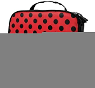 60s 50s Rocker Inspired Bold Polka Dot Image Travel Cosmetic Bags Organizer Multifunction Case Toiletry Bags for Women