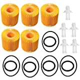 04152-YZZA1 Oil Filter Kit for Toyota Avalon Camry RAV4 Sienna Lexus ES300h ES350 IS200t RX350 RX450h (Pack of 5)
