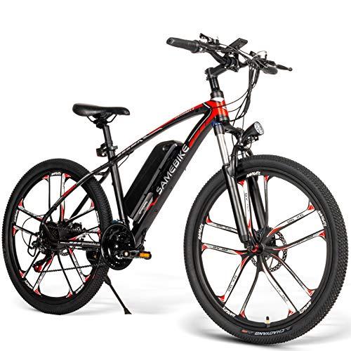 SM26 Bicicleta de montaña eléctrica, Bicicleta eléctrica para adultos 8Ah 350W Neumático...