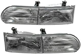 BuyRVlights Forest River Windsong 1998-2001 RV Motorhome Pair (Left & Right) Replacement Headlights Head Lights Front Lamps