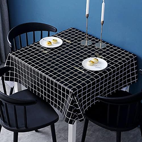 sans_marque Mantel de mesa, anti-derrame y anti-arrugas cubierta de mesa suave, utilizado para decoración de mesa de cocina 111x111cm