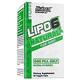 Nutrex Research Lipo-6 Natural | Vegan Vegetarian Plant Based All Natural Fat Burner Weight Loss Capsules | Coffea Robusta, Ashwagandha, Apple Cider Vinegar, Grains of Paradise | 60 Count