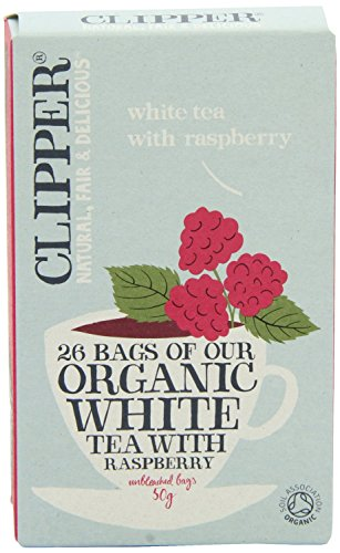 (2 Pack) - Clipper - Organic White Tea Raspberry | 26 Bag | 2 PACK BUNDLE