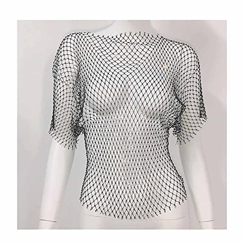 AMY-XCQ Cadena para El Cuerpo, Rejilla Y Camiseta Brillante con Diamantes De...