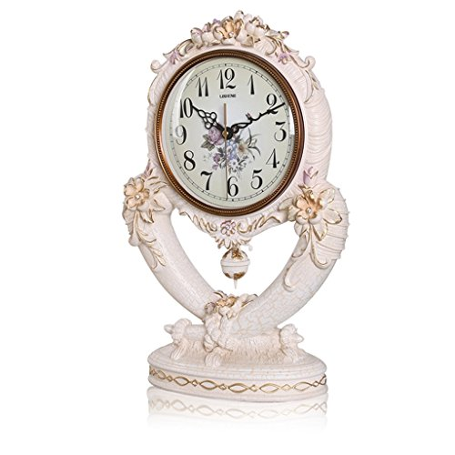 Grande Horloge de Style Européen Horloge de Chambre Horloge de Lit Horloge de Pendule Horloge de Table de Décoration de Salon