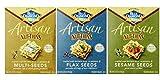 Blue Diamond Wheat & Gluten Free Artisan Nut Thins Crackers 3 Flavor Variety Bundle: (1) Blue Diamond Multi-Seeds, (1) Blue Diamond Flax Seed, and (1) Blue Diamond Sesame Seed, 4.25 Oz. Ea. (3 Total)