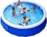 EPROSMIN 10ft x 30in Quick Set Inflatable Above Ground Pool - Family Swimming Pools Above Ground for Backyard/Outside, Portable Inflatable Top Ring Swimming Pools for 2-6 Kids and Adults No Filter