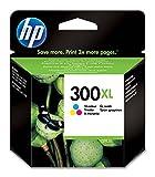 HP 300XL CC644EE pack de 1, haut rendement, cartouche d'encre d'origine, noir et trois couleurs (cyan, magenta et jaune)