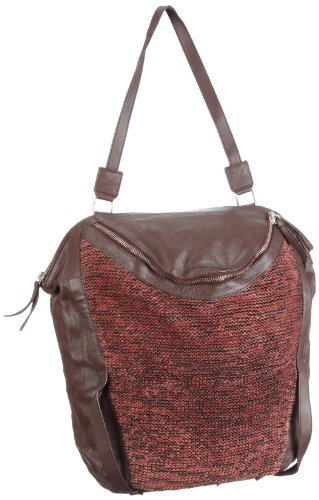 Black Lily Fie Big Bag, Damen Rucksäcke, Rot (Bourgogne/weinrot), 40x40x11 cm (B x H x T)