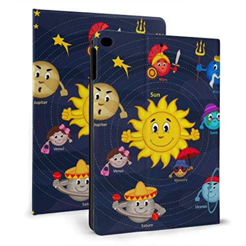 XiexHOME Childproof Ipad Case Set Of Planets With Faces On Stars Child Ipad Cover For Ipad Mini 4/mini 5/2018 6th/2017 5th/air/air 2 With Auto Wake/sleep Magnetic Ipad Cover Case