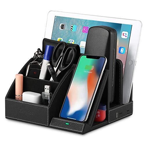 Desk Organizer USB Charging Station