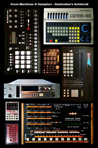 Drum Machines & Samplers - Beatmaker's Notebook/Journal - Journal Composition for hip hop and electronic music producers 6x9 inches 120 blank pages