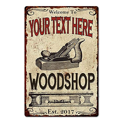 Personalized Woodshop Sign