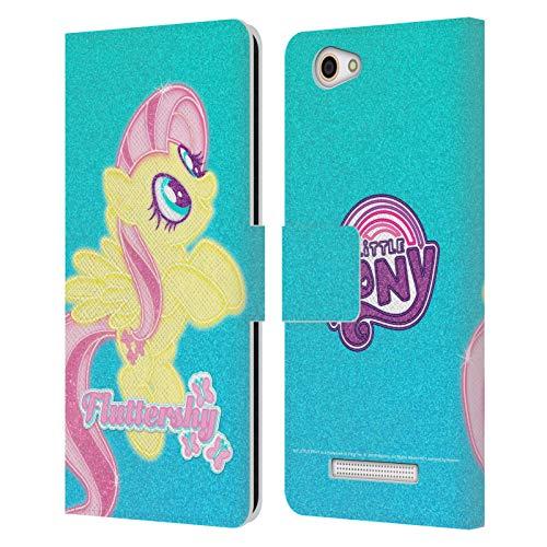 Head Hülle Designs Offizielle My Little Pony Fluttershy Regenbogen Vibes Leder Brieftaschen Huelle kompatibel mit Wileyfox Spark X