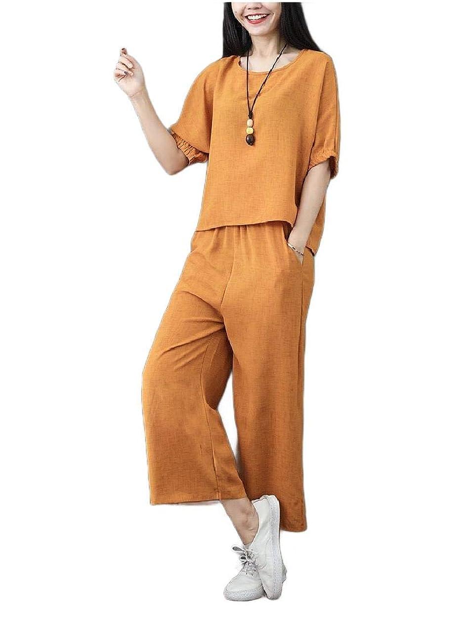 ブーム受け入れるアヒルTootess 女性の3分の4スリーブのバギーソリッドパンツパンツトラックスーツジョグセット