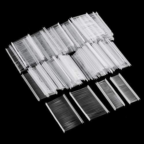 Tugaizi 5000 Pieces Standard Tagging Gun Fasteners Plastic Regular Garment Clothing Price Tag Label Standard Tagging Barbs, 1 Inch, 2 Inch